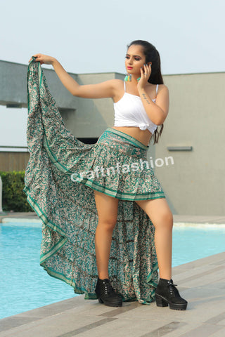 Bollywood Fashion Beach Wear Skirt