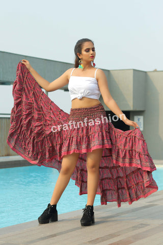 Indo Western Beach Wear Ibiza Skirt
