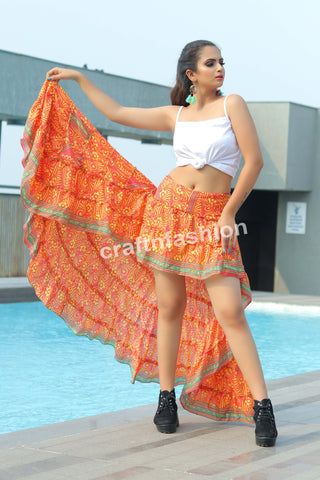Fully Flared Boho Gypsy Tribal Skirt