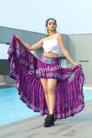 Bohemian Tribal Gypsy Ibiza Skirt