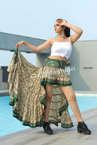 Mexican Dance Costume Printed Skirt