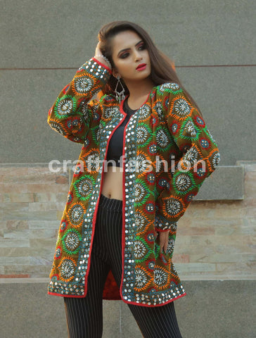 Floral Embroidered Sitara Work Jacket