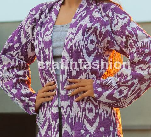 Women Fashion Long Kantha Jacket
