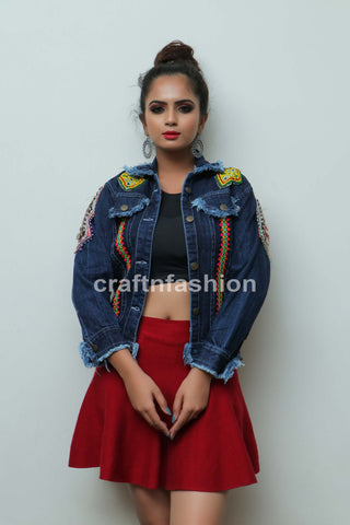 Kutch Patch Mirror Work Jacket