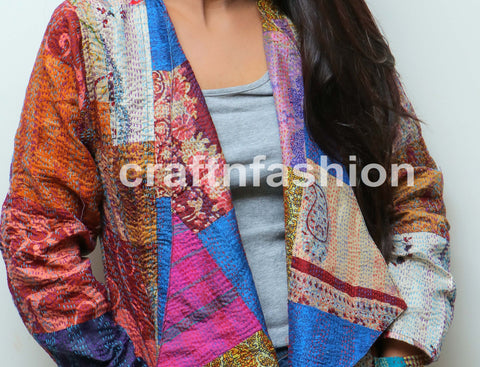Traditional Kantha Stitches Jacket
