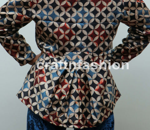 Designer Mashroo Silk Jacket