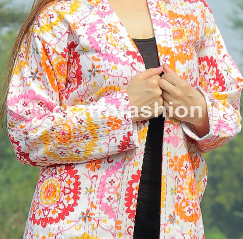 Reversible Winter Wear Kantha Jacket