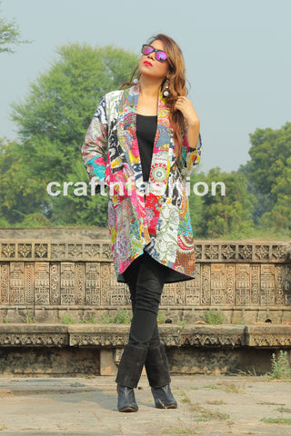 Winter Wear Reversible Kantha Jacket