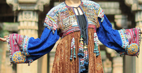 Gypsy Boho Embroidered Afghan Jacket