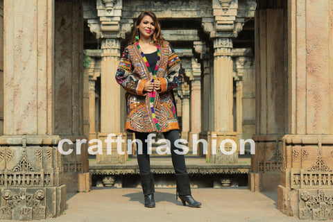 Rabari Embroidery Winter Jacket