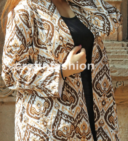 Boho Fashion Reversible Kantha Jacket
