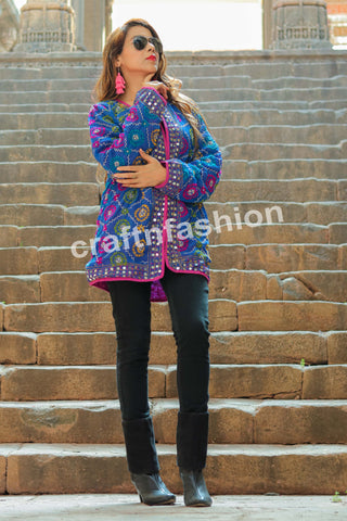 Hand Embroidered Phulkari Jacket