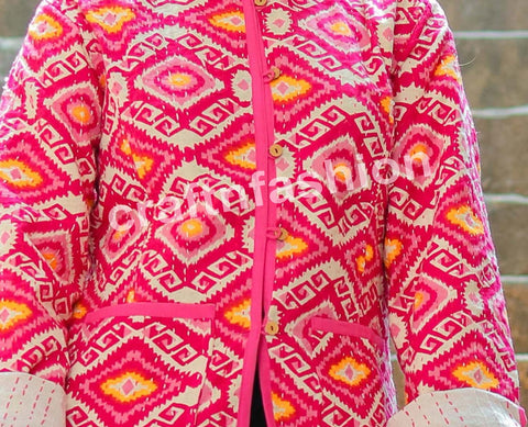 Reversible Block Printed Kantha Jacket