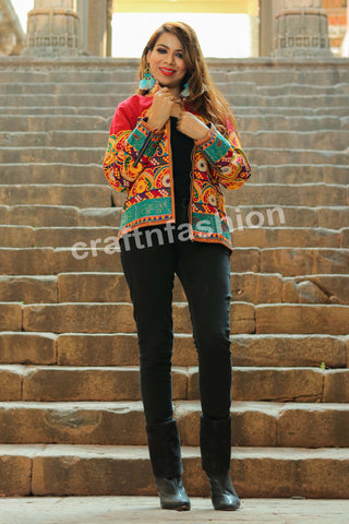 Bohemian Banjara Mirror Work Jacket