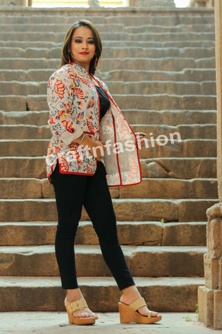 Hand Embroidered Kantha Work Jacket