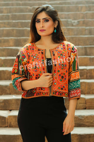 Sindh Embroidery Short Jacket