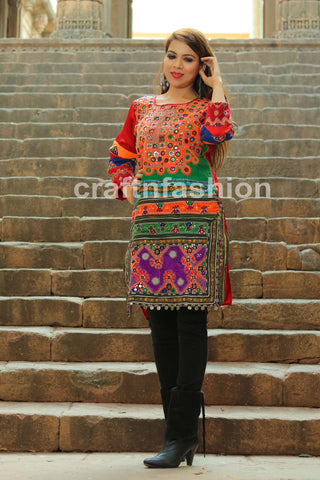 Sindh Embroidery Boho Dress