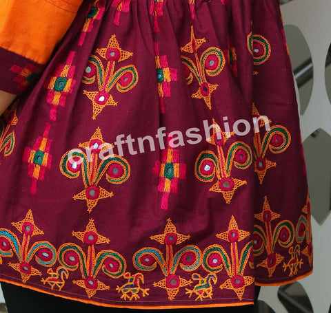 Kutch Embroidery Navratri Wear Kediyu