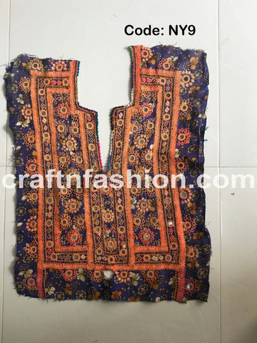 Sindh Hand Embroidery Glass Work Patch