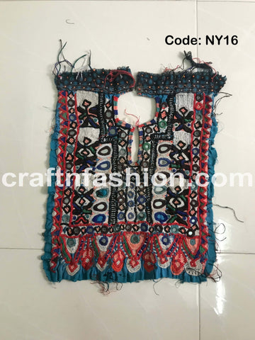Boho Gypsy Tribal Embroidered Neck Yoke