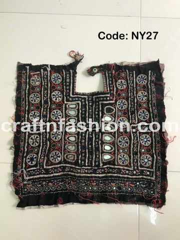 Indian Vintage Kutch Embroidery Yoke