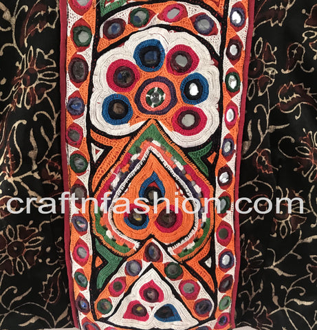 Kutch Patch Work Indian Mashru Silk Blouse