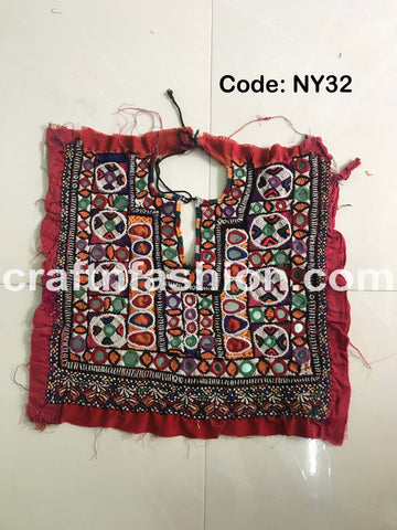 Boho Gypsy Hand Embroidered Neck Yoke