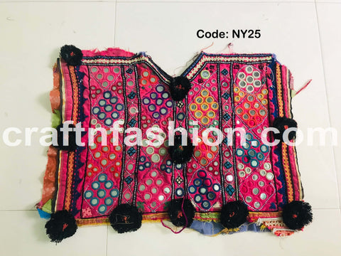 Handmade Sindh Embroidery Neck Yoke