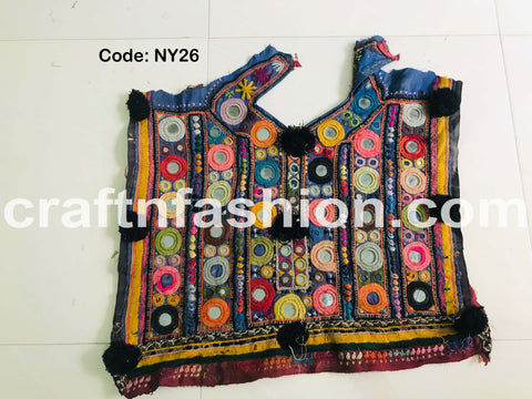 Ethnic Tribal Kutch Embroidery Yoke