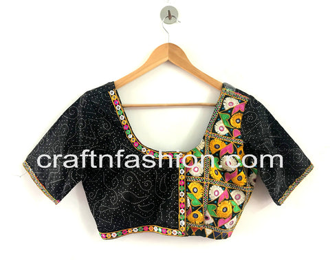 Kutch Hand Embroidered Gaji Silk Blouse