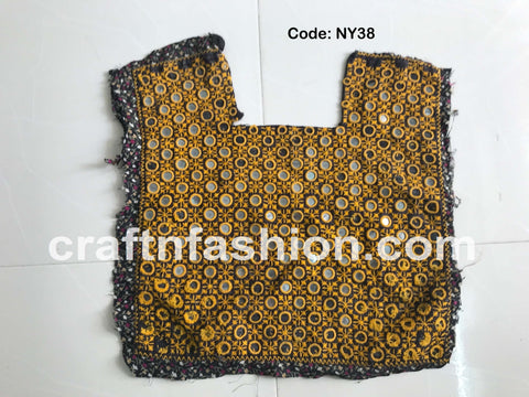 Banjara Yoke Neck Patch - Mirror Work