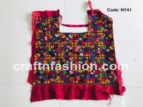 Hand Embroidered Afghan Dress Neck Patch