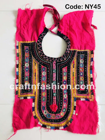 Boho Gypsy Hand Embroidered Kutch Yoke