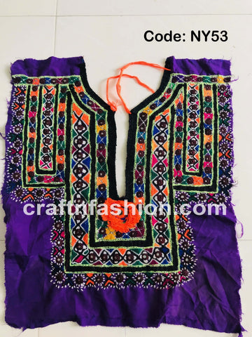 Boho Hippie Kutch Yoke Neck Patch