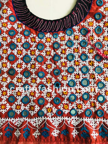 Rabari Embroidery Yoke Neck Patch