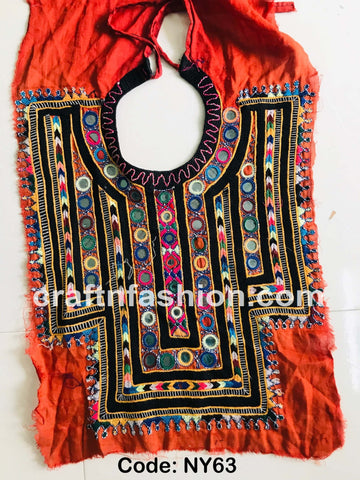 Sindh Embroidery Kutch Neck Patch