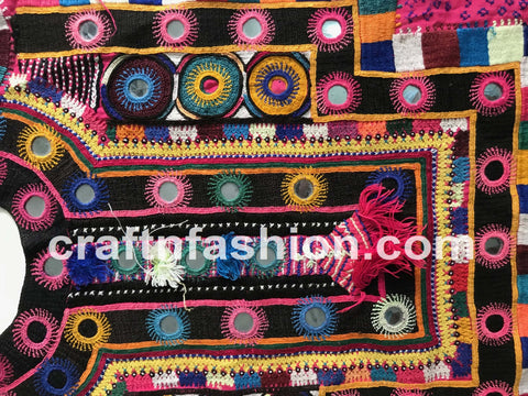 Vintage Hand Embroidered Kutch Yoke Neck