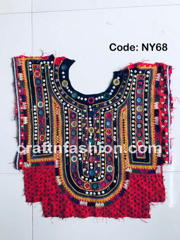 Colorful Mirror Work Yoke Neck