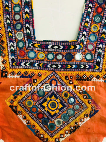 Indian Cotton Kutch Embroidery Neck Patch