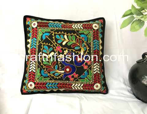 Peacock Embroidery Takiya Cover