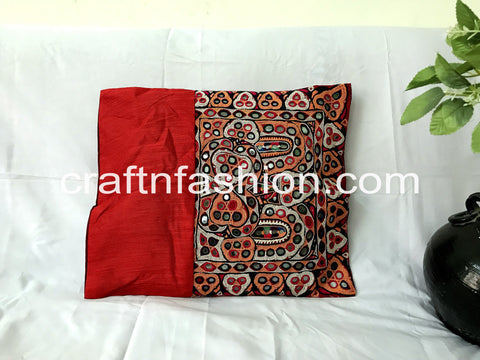 Zippered Closure Cotton Cushion Cover