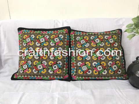Indian Traditional Rabari Work Takiya Cover (2PC)