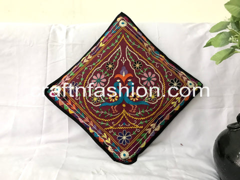 Indian Vintage Cotton Thread Work Takiya Cover