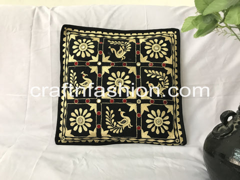 Vintage Hand Embroidered Cushion Cover