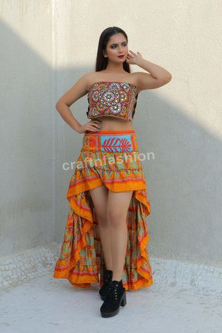 Belly Dance Wear Silk Ibiza Skirt