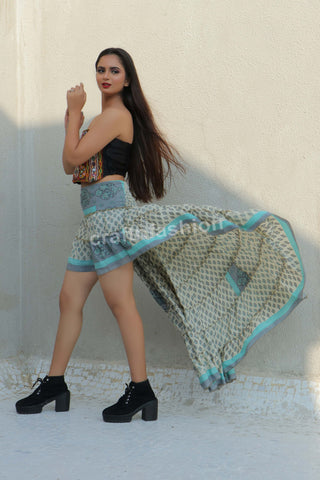 Indo Western Fashion Bollywood Style Skirt