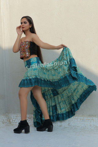Bollywood Fashion Tribal Dance Wear Skirt