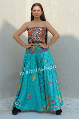 Multicolored Boho Gypsy Women Trouser