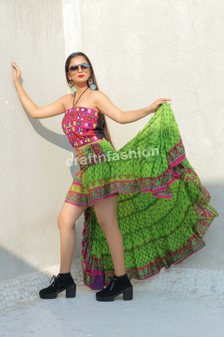 Fully Flared Tribal Dance Wear Skirt