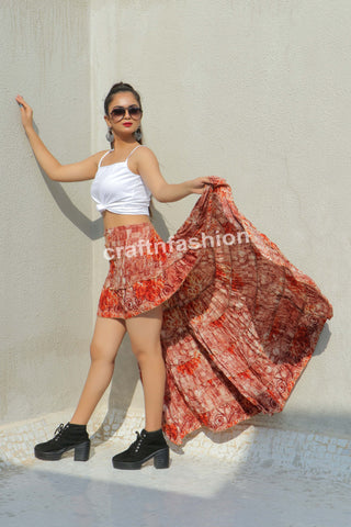 Beach Wear Indo Western Skirt